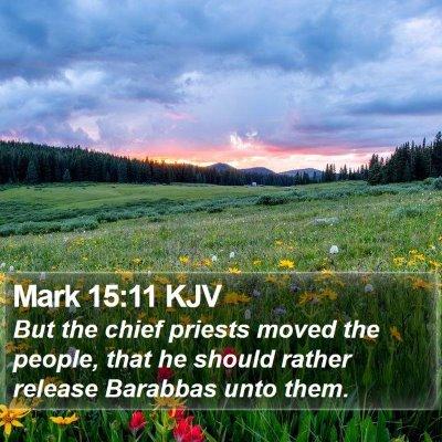 Mark 15:11 KJV Bible Verse Image