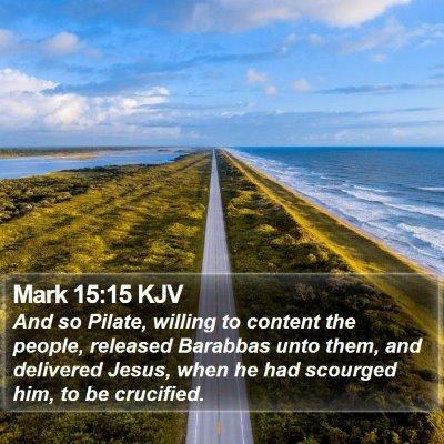 Mark 15:15 KJV Bible Verse Image