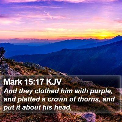 Mark 15:17 KJV Bible Verse Image