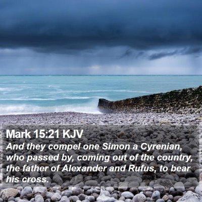Mark 15:21 KJV Bible Verse Image