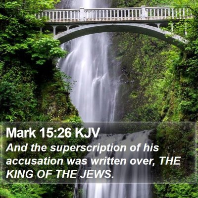 Mark 15:26 KJV Bible Verse Image