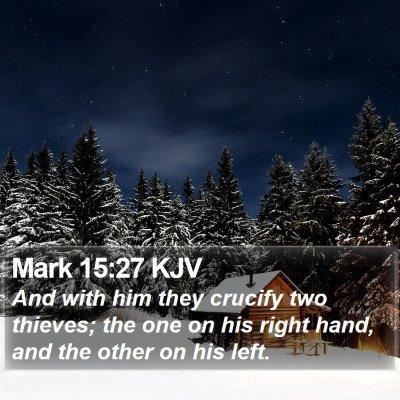 Mark 15:27 KJV Bible Verse Image