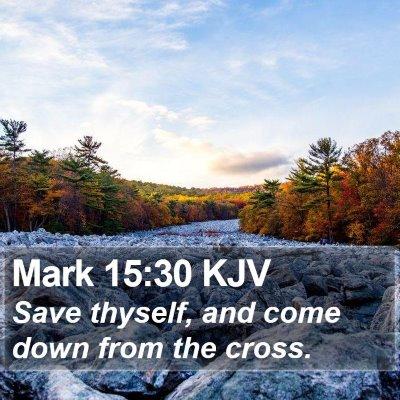 Mark 15:30 KJV Bible Verse Image