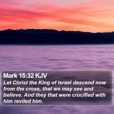 Mark 15:32 KJV Bible Verse Image