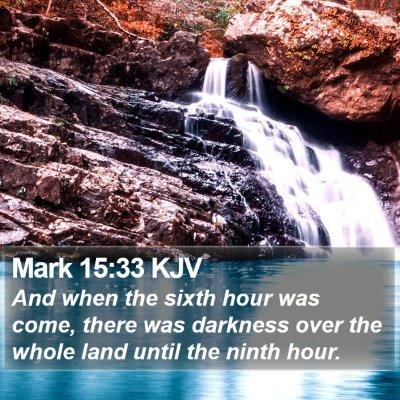Mark 15:33 KJV Bible Verse Image