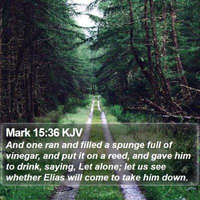 Mark 15:36 KJV Bible Verse Image