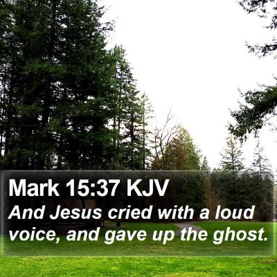 Mark 15:37 KJV Bible Verse Image