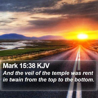 Mark 15:38 KJV Bible Verse Image