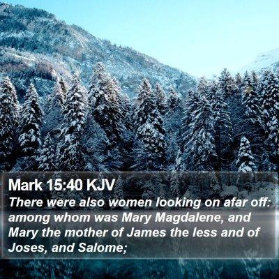 Mark 15:40 KJV Bible Verse Image