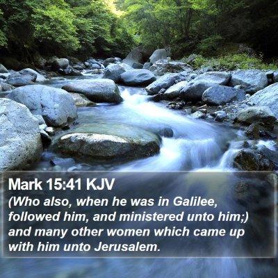 Mark 15:41 KJV Bible Verse Image