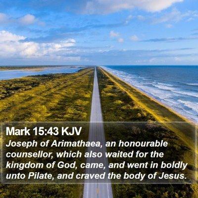 Mark 15:43 KJV Bible Verse Image