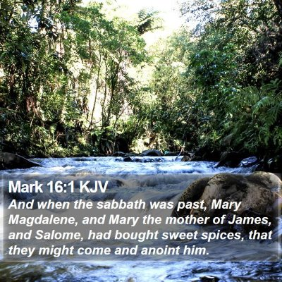 Mark 16:1 KJV Bible Verse Image