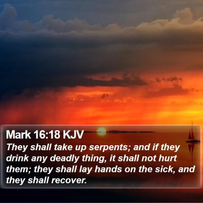 Mark 16:18 KJV Bible Verse Image