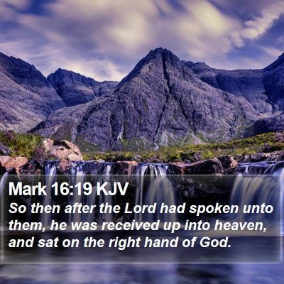 Mark 16:19 KJV Bible Verse Image