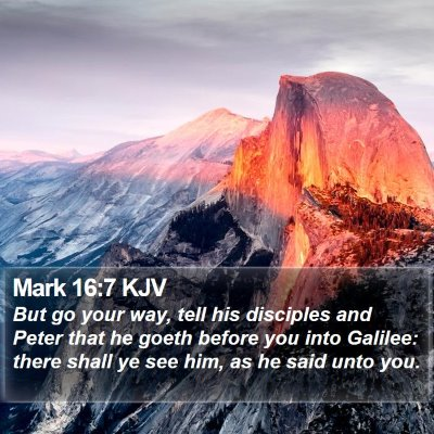 Mark 16:7 KJV Bible Verse Image