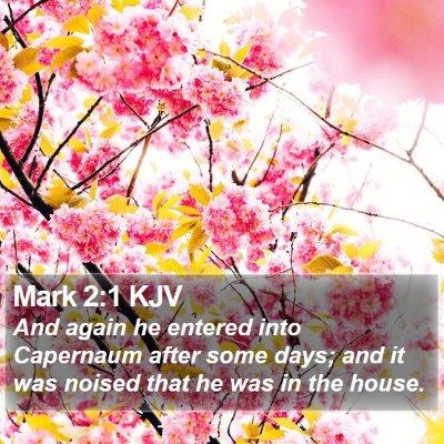 Mark 2:1 KJV Bible Verse Image