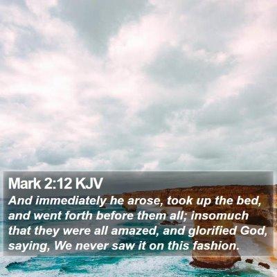 Mark 2:12 KJV Bible Verse Image