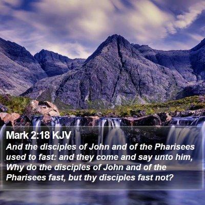 Mark 2:18 KJV Bible Verse Image