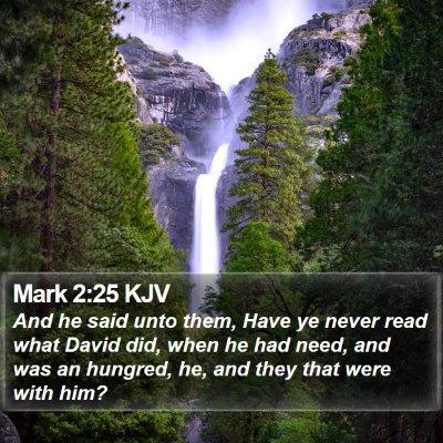 Mark 2:25 KJV Bible Verse Image