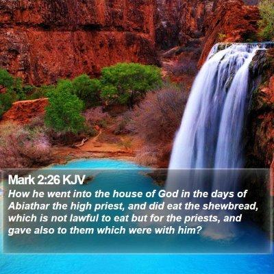 Mark 2:26 KJV Bible Verse Image