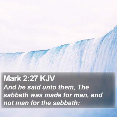 Mark 2:27 KJV Bible Verse Image
