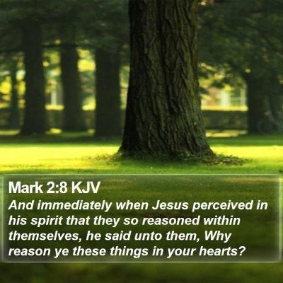 Mark 2:8 KJV Bible Verse Image