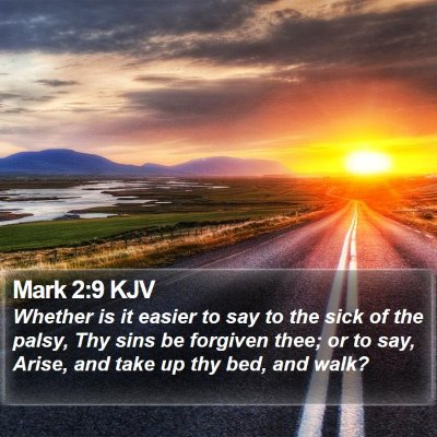 Mark 2:9 KJV Bible Verse Image