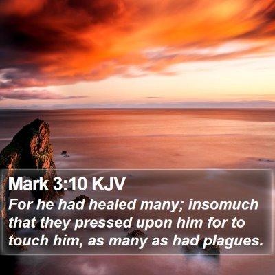 Mark 3:10 KJV Bible Verse Image