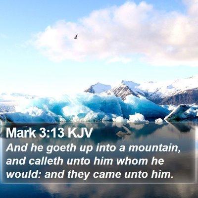 Mark 3:13 KJV Bible Verse Image