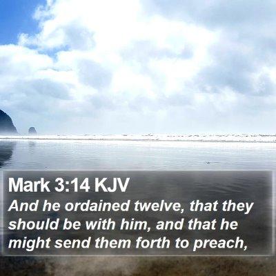 Mark 3:14 KJV Bible Verse Image