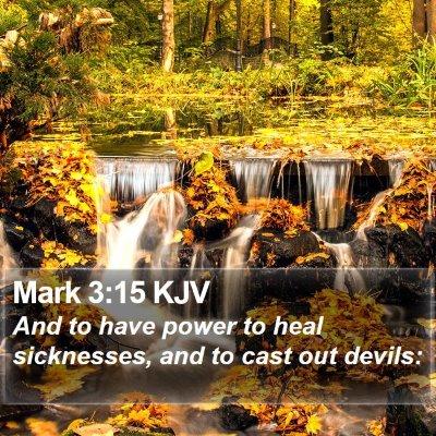 Mark 3:15 KJV Bible Verse Image