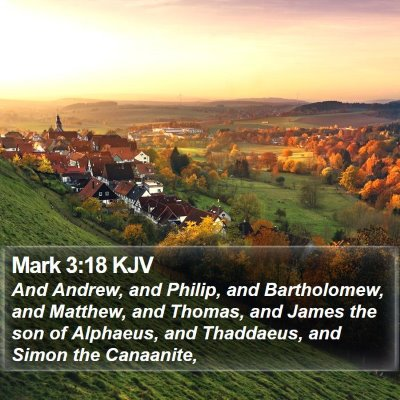 Mark 3:18 KJV Bible Verse Image