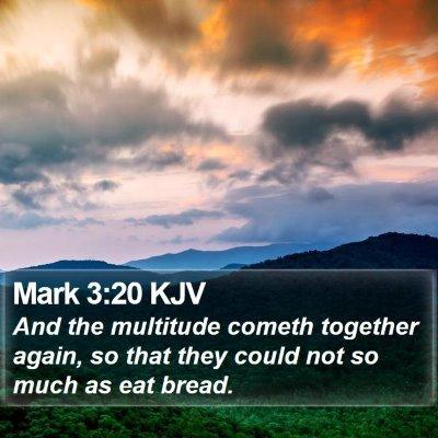 Mark 3:20 KJV Bible Verse Image