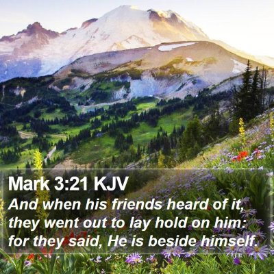 Mark 3:21 KJV Bible Verse Image