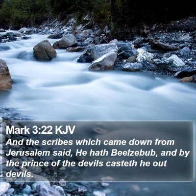 Mark 3:22 KJV Bible Verse Image