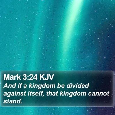 Mark 3:24 KJV Bible Verse Image
