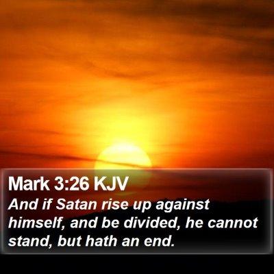 Mark 3:26 KJV Bible Verse Image
