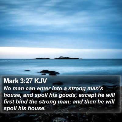 Mark 3:27 KJV Bible Verse Image