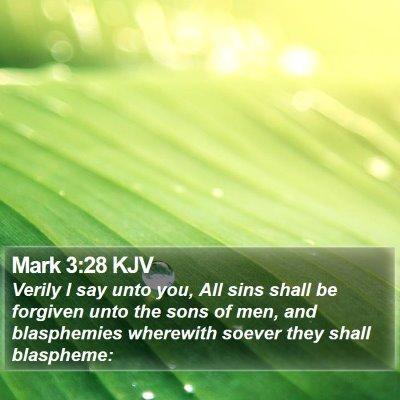 Mark 3:28 KJV Bible Verse Image