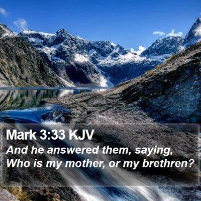 Mark 3:33 KJV Bible Verse Image
