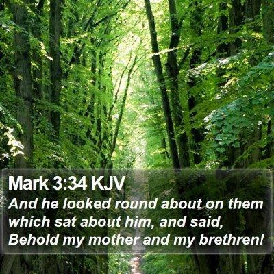Mark 3:34 KJV Bible Verse Image