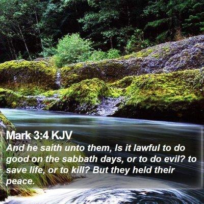 Mark 3:4 KJV Bible Verse Image