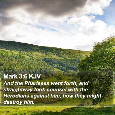 Mark 3:6 KJV Bible Verse Image