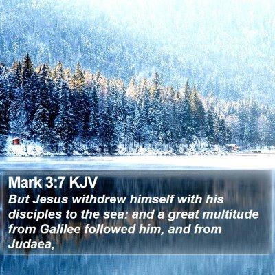 Mark 3:7 KJV Bible Verse Image