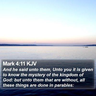 Mark 4:11 KJV Bible Verse Image