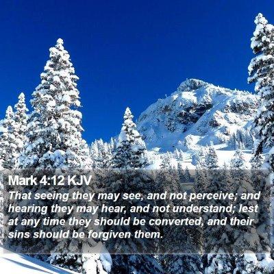 Mark 4:12 KJV Bible Verse Image