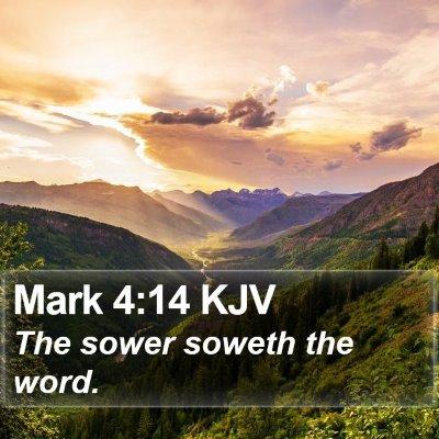 Mark 4:14 KJV Bible Verse Image