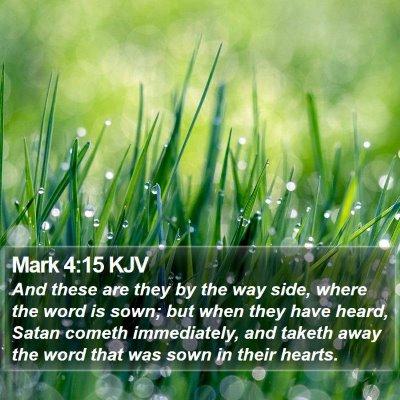 Mark 4:15 KJV Bible Verse Image