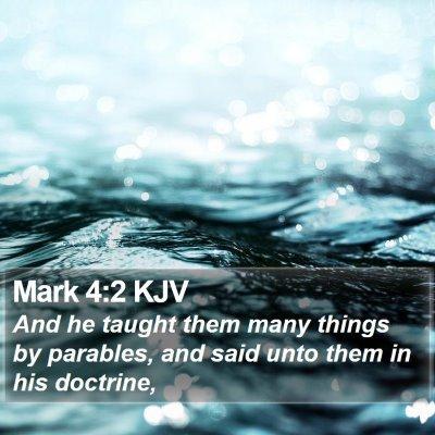 Mark 4:2 KJV Bible Verse Image