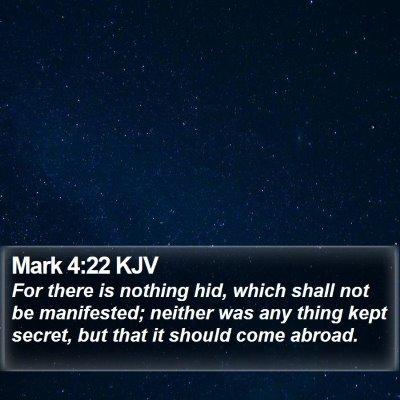 Mark 4:22 KJV Bible Verse Image